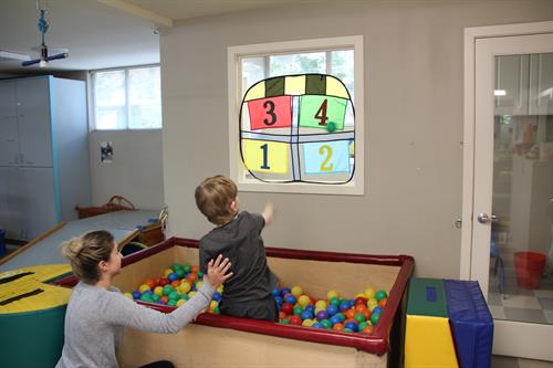 Occupational therapy helps children develop balance and coordination.