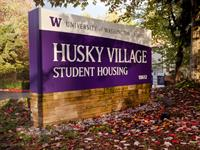 More than 300 students live on campus in Husky Village and Campus View apartments.