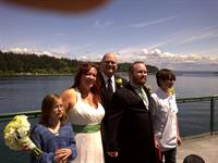 Wedding on the Bainbridge ferry