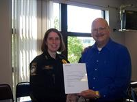 Presentation with Bothell PD Chief Carol Cummings