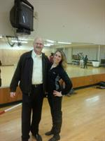 During practice for Dancing with the Northshore Stars