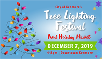 City of Kenmore Tree Lighting Festival and Holiday Market
