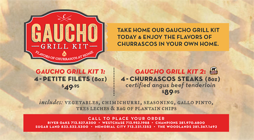 Love to grill? We got you! Order our Gaucho Grill Kit!!