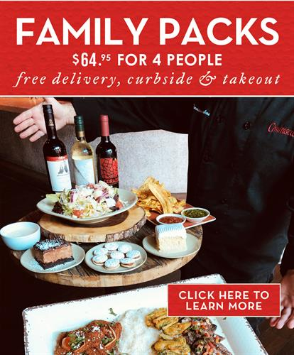 A great deal for families of 4 and 6! https://churrascos.com/wp-content/uploads/menu/Churrascos-Take-Out-Curbside-Delivery-Menu.pdf