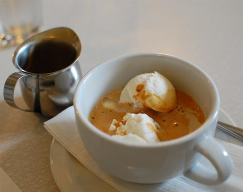 Affogato - Ice cream drowned in espresso!