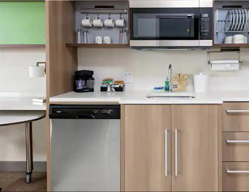 Fully Equipped Kitchenette with Induction Cook Top