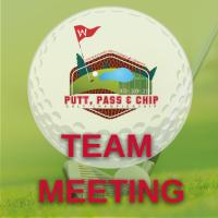 Putt, Pass & Chip Golf Tournament Team Meeting