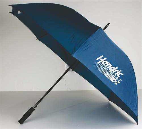 "60"" Auto Open Metal Shaft Golf Umbrella, with sure grip black foam handle"
