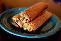 Homemade Spinach Tamales!
