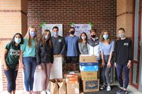 Students Step Up To Help The Montgomery County Food Bank's Holiday Food Drive