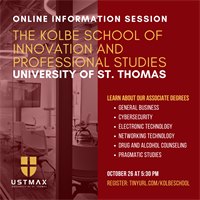 Information Session: Associate Degrees at UST