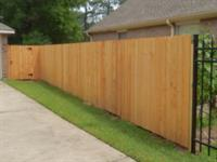 Cedar fence install