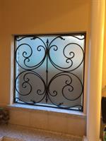 Interior iron work installed