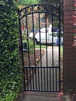 Pedestrian gate Install with mechanical lock