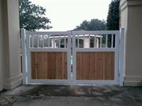 Wood and Iron gate install