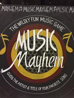 Music Mayhem Logo in chalk art