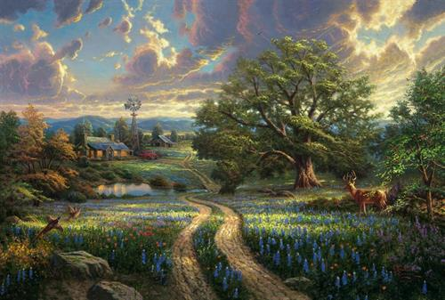"""Country Living"" by Thomas Kinkade"