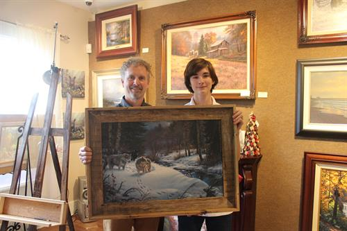 James Aldridge with Artist Mark Keathley