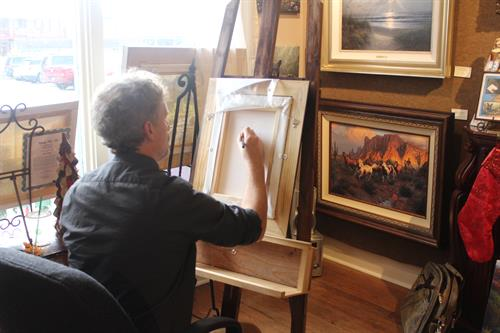 Artist Mark Keathley at a Sketch & Sign Event