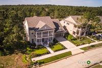 Aerial photo of home listing in TheWoodlands TX Keller Williams The Woodlands