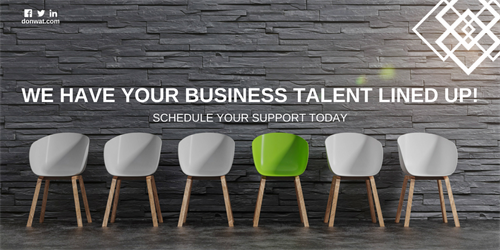 WE HAVE YOUR BUSINESS TALENT LINED UP!