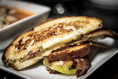 Bacon Grilled Cheese with Tomato Soup