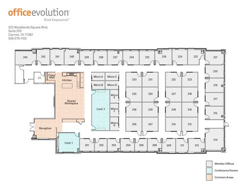 Office Evolution - Outstanding Floor plan with 2 Conference rooms, 41 offices,  6 micro-offices and Team rooms - Open Feb 2019