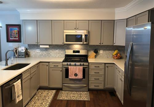 Cabinet redooring maple painted in pewter