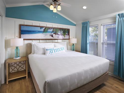 Lake Cottage Bedroom at Margaritaville Lake Resort, Lake Conroe | Houston
