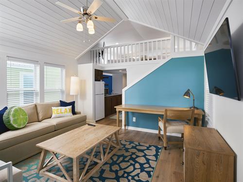 Lake Cottage Living Room at Margaritaville Lake Resort, Lake Conroe | Houston