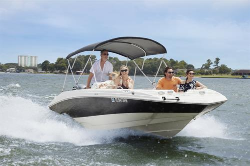 Ski Boat rental from Einstein's Surf & Boat Shop at Margaritaville Lake Resort, Lake Conroe | Houston