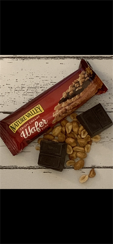 Healthy snacks can be tasty.  This 200 cal. peanut butter chocolate wafer is delicious!