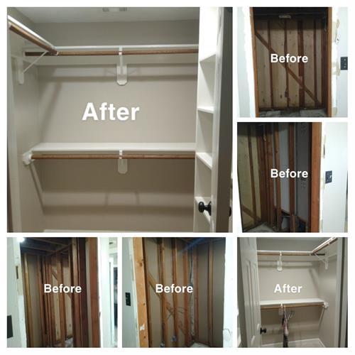 Closet Remodel/Water damage restoration