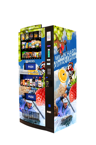 Vending machine angled