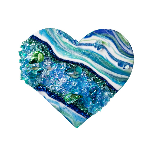 """Abalone Heart Geode 9""""- Ready to ship"""