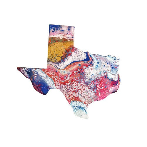 Red, White, Blue, & Gold Texas- Ready to ship