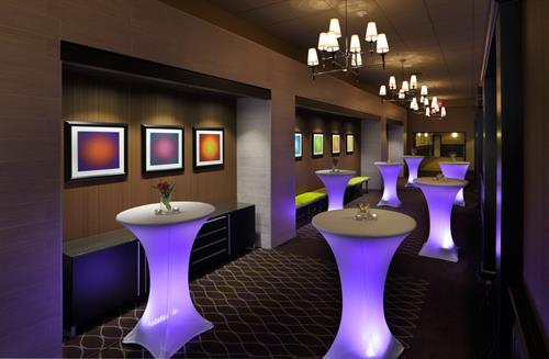 Contemporary pre-function/reception area outside ballroom