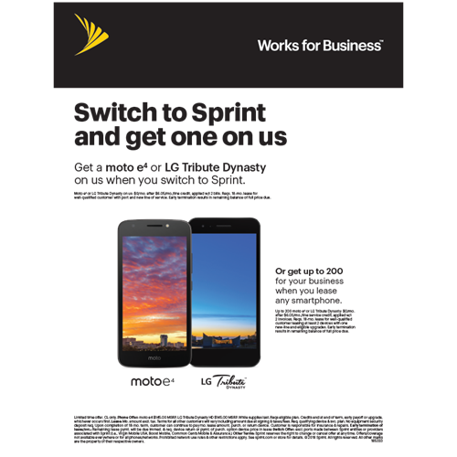 trhat right sprint at fresh Pond Mall has FREE POHNES offer Buy or lease Samsung Galaxy smartphones for your business and get up to a $200 service credit.