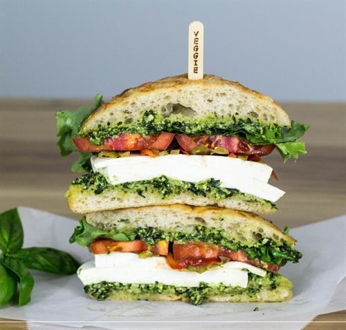 Fresh Mozzarella & Pesto Sandwich