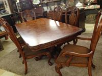 WOW!! Huge carved table and chairs