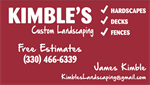 Kimble's Custom Landscaping