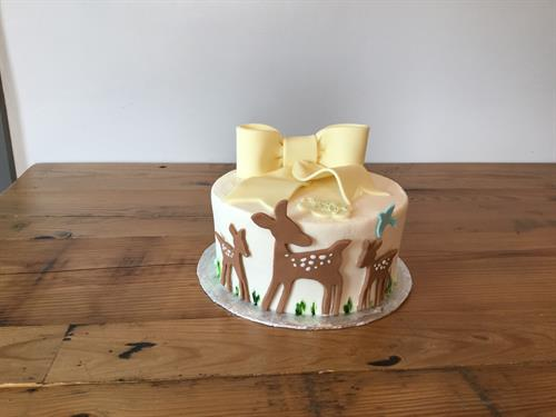 Fawn Baby Shower Cake