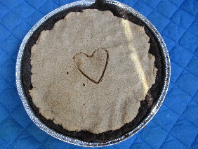 Chocolate Cookie Pie Crust with Peanut Butter Cookie Filling