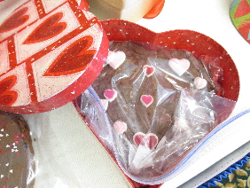 Chocolate Cookie Heart in Keepsake Heart Box