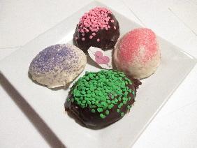 Chocolate Cookies in Egg Shape