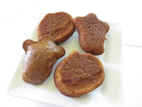 Molasses Cookies in Bear and Ghost Shape