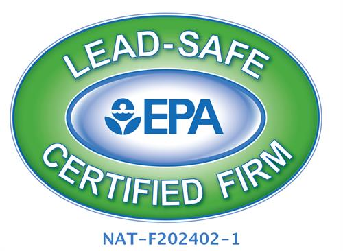 Lead Safe Certified Firm # NAT-F202402-1