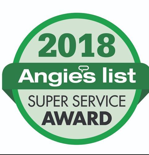 AngiesList Super Service Award 2018