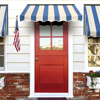 Series 2700: Fabric Door Canopy (with Series 3700: Fabric Window Awnings with Sides)