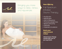 Now offering two Full Spectrum Infrared Saunas